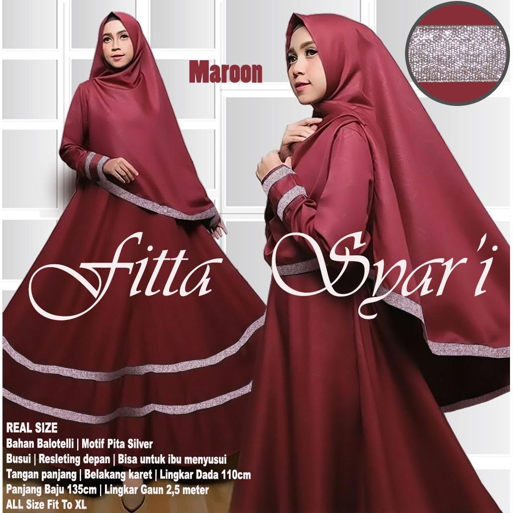 Beli New Gamis Fitta Syar I Maroon Cicil