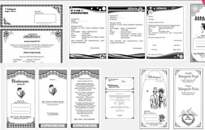 Detail Gambar DVD Desain Undangan Format Ms.Word Terkini