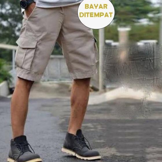 Lucky Kargo Pendek Crem Clothing Pria Bayar Ditempat Terbaru