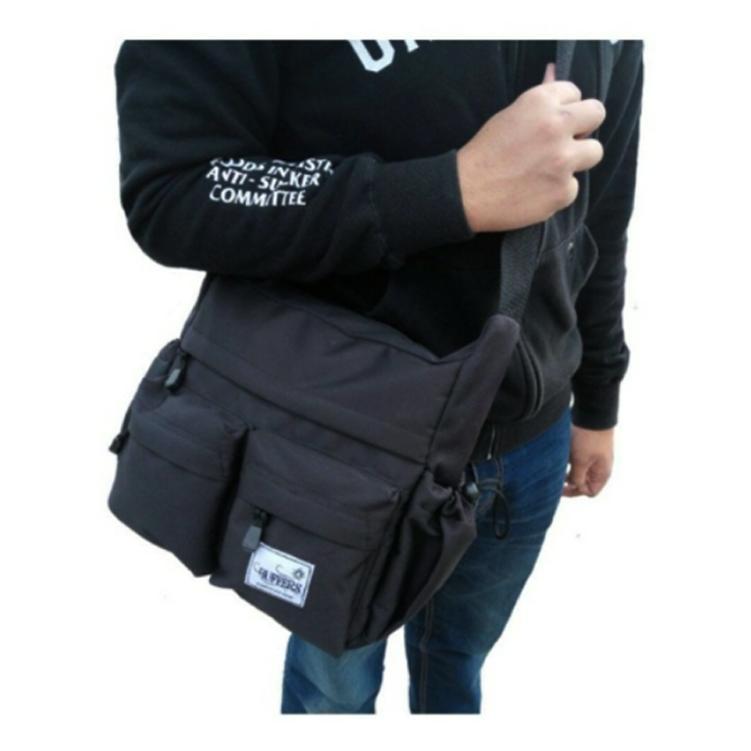 Buffers Tas Selempang Sports - Shoulder Bag Cordura LLC777 - Black - Tas Sandang Pria Tas Messenger Tas Slempang Crossbody Man Tas Fashion Pria