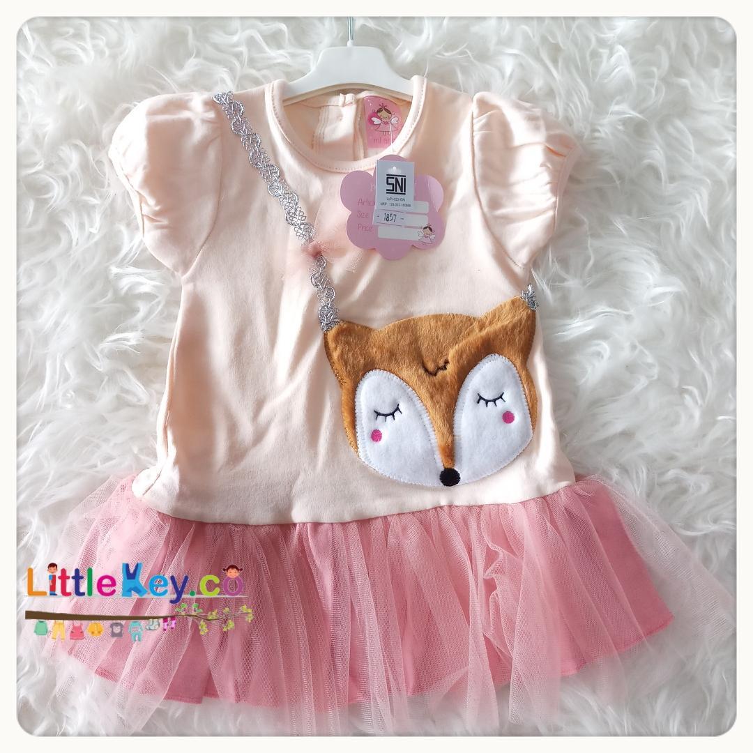 Littlekey - Dress Bayi Lucu/Baju Bayi Perempuan/Pakaian Bayi Perempuan/Dress Tile