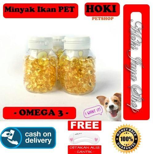 HOKI COD - Omega 3 - Minyak Ikan Untuk Anjing - Kucing - Hamster - Kelinci - ISI 100 CAPSULE + Gratis Cetak Alis Cantik - Premium