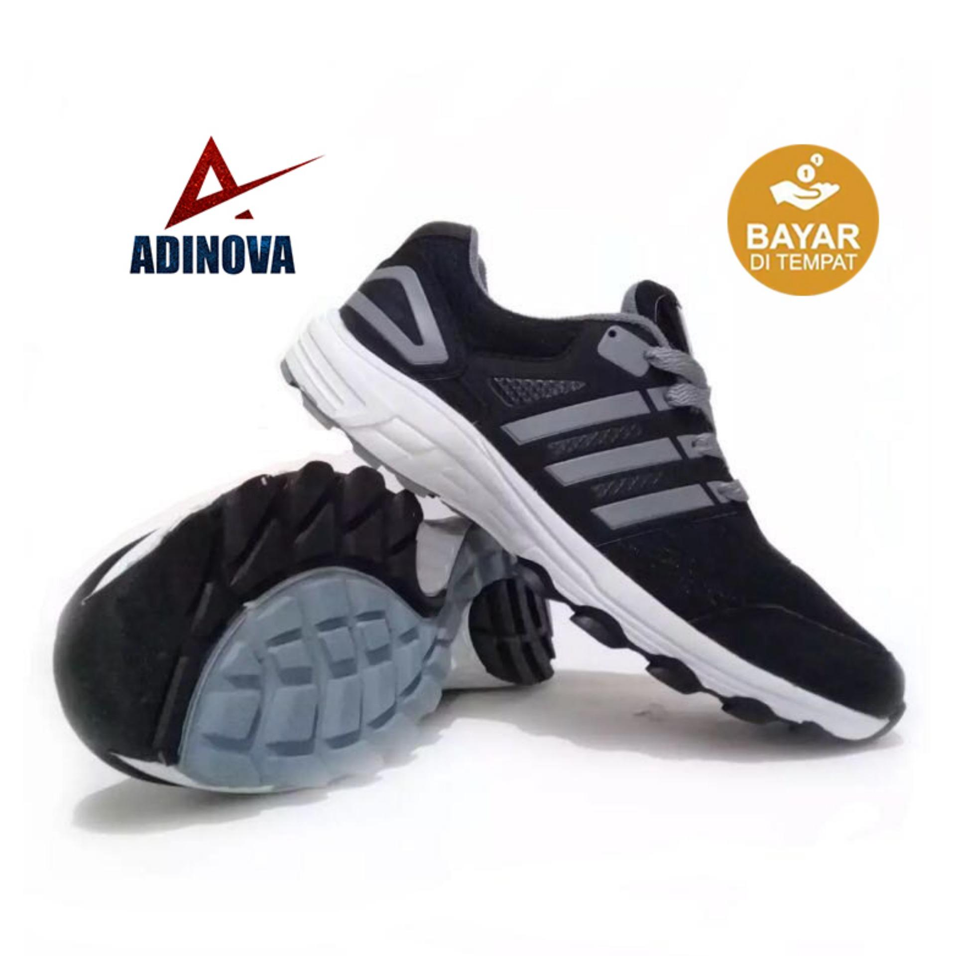 Adinova Shoes Sepatu Sport Baru - Hitam