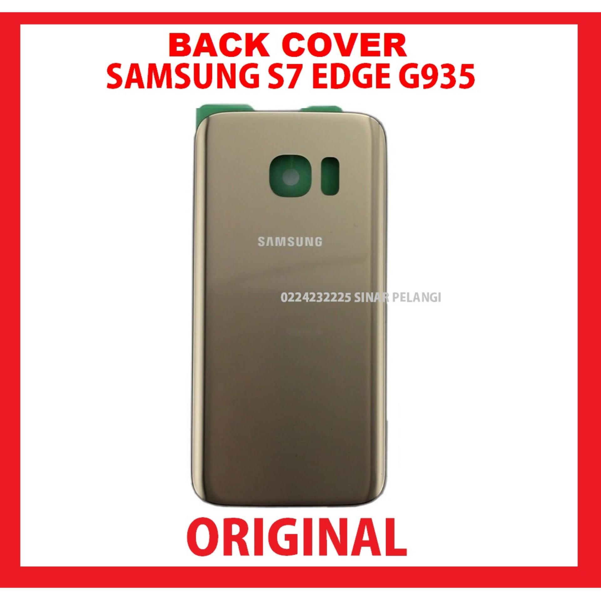 SAMSUNG GALAXY S7 EDGE G935 GOLD BATTERY BACK COVER BACK DOOR TUTUP BATERAI CASING BELAKANG ORIGINAL