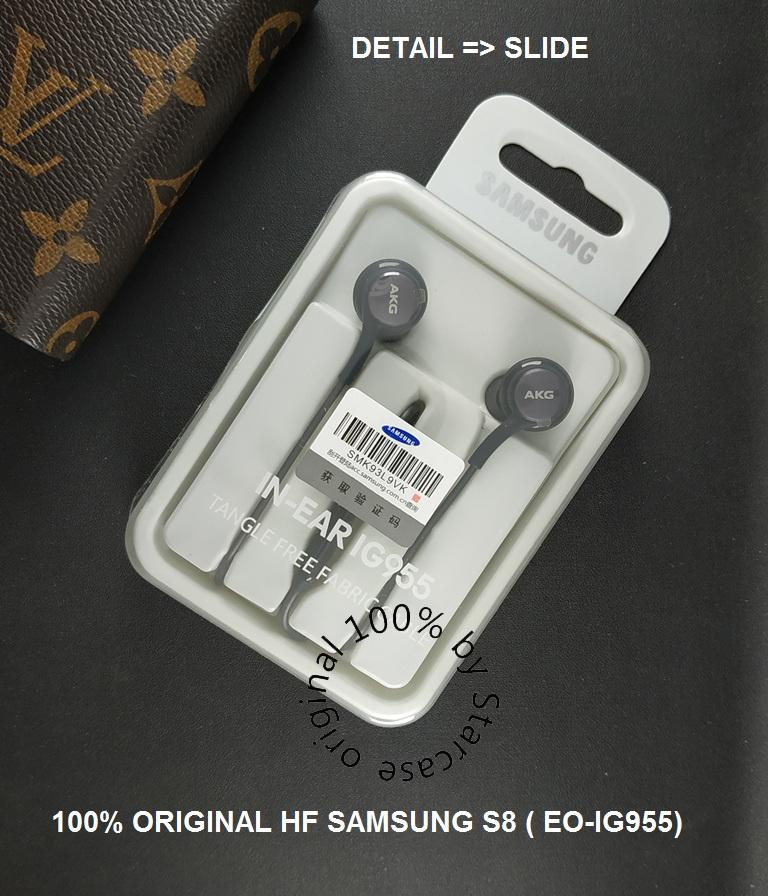 100% ORIGINAL SAMSUNG HEADSET GALAXY S8 ( EO-IG955 ) - BLACK GARANSI