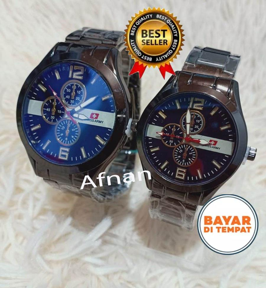 Jam Tangan Swiss Army/Swiss Time - Jam Tangan Pria/Wanita Couple/Pasangan Stainless Steel Model Terbaru