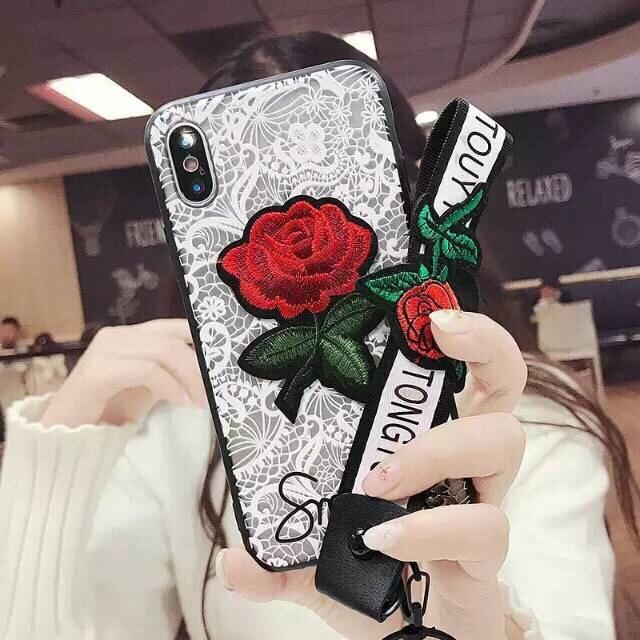 Softcase Fashion Phone Case Flower White Cute New Oppo F7