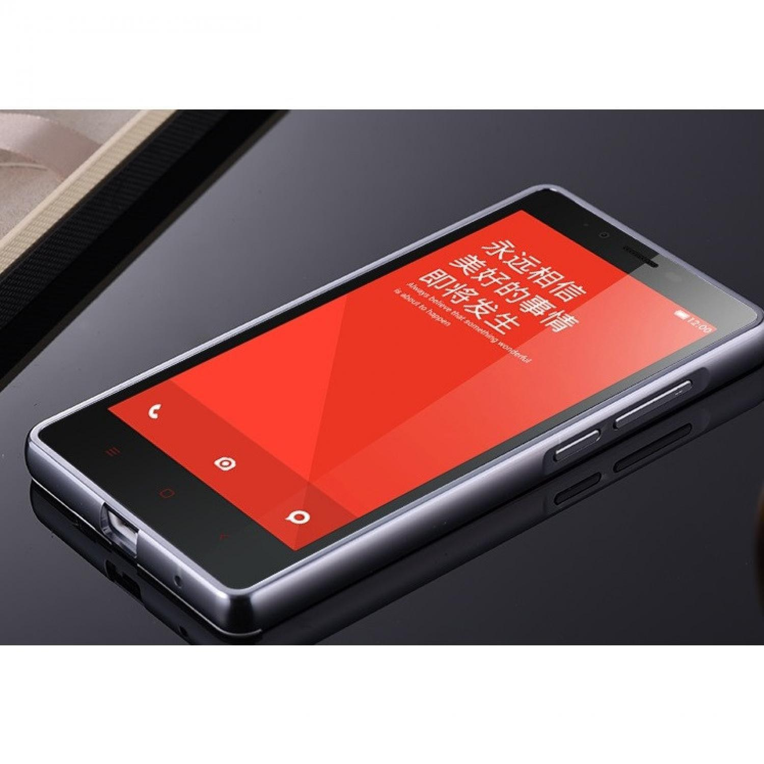 Fitur Hflb Aluminium Bumper Hard Case Casing Cover Xiaomi Redmi Mi Mirror Note 4 Back 1 3g 4g