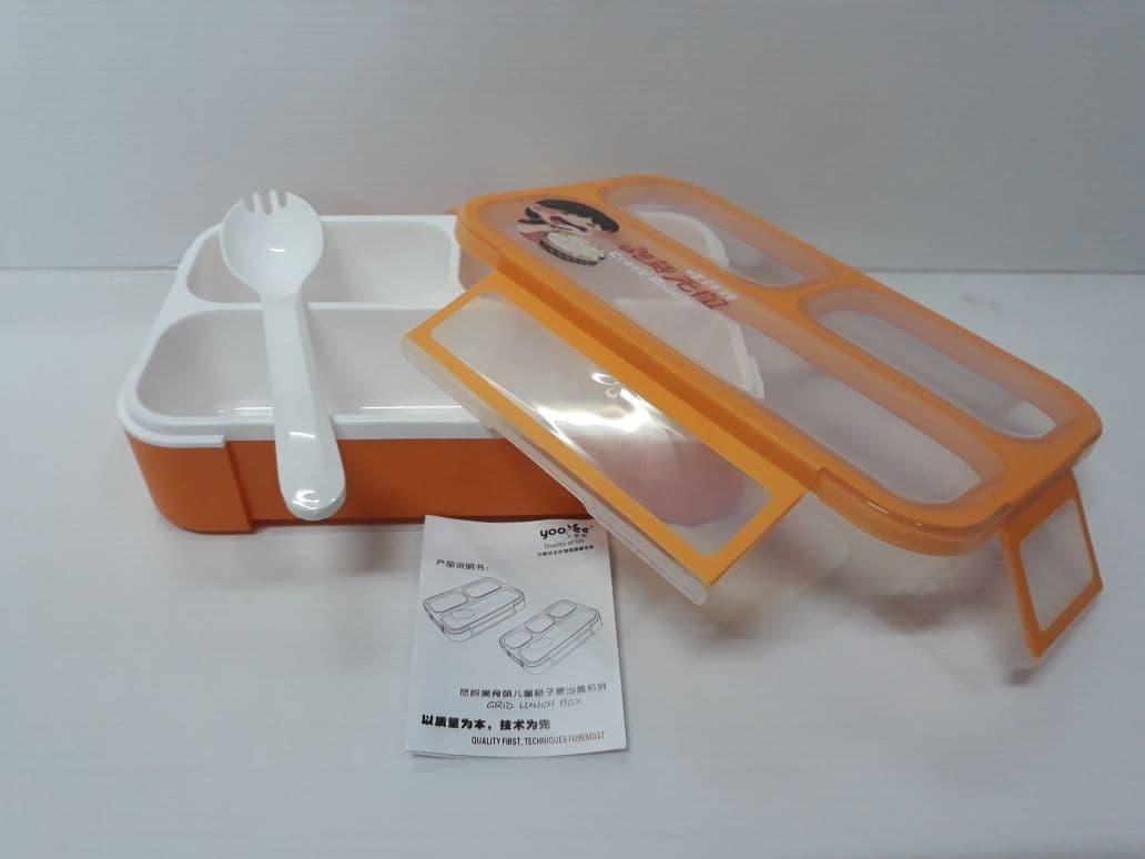 Fitur Yooyee 606 Lunch Box Mini 3 Sekat Kotak Makan Anti Tumpah Sup Bento Hijau Tosca