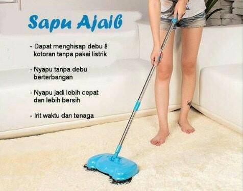 Super Broom Alat Sapu Lantai Mop Spray Pel Dapur Rumah magic mop / alat sapu lantai