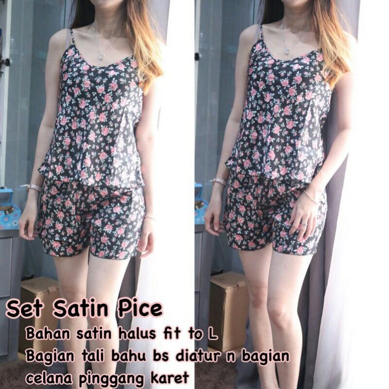 FJCO BC- Set Satin Pice / Setelan wanita / Fashion wanita