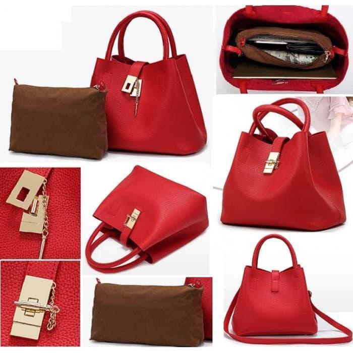 ... BEST SELLER-MERONA RED CELINE DIOR PRADA  TAS BRANDED   TAS IMPORT MURAH  ... cfaaa4e86e