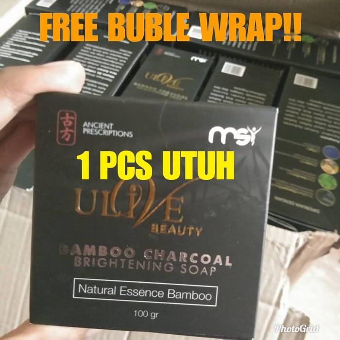 Original Ulive Bamboo Soap MSI - Charcoal Sabun Bambu Arang - Sabun Arang Bamboo Ulive Charcoal