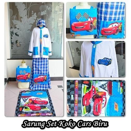 Sarung Koko Cars Biru (Size XL)