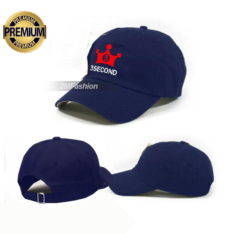 TOPI BASEBALL 3SECOND - TOPI DISTRO 3SECOND NAVY PREMIUM
