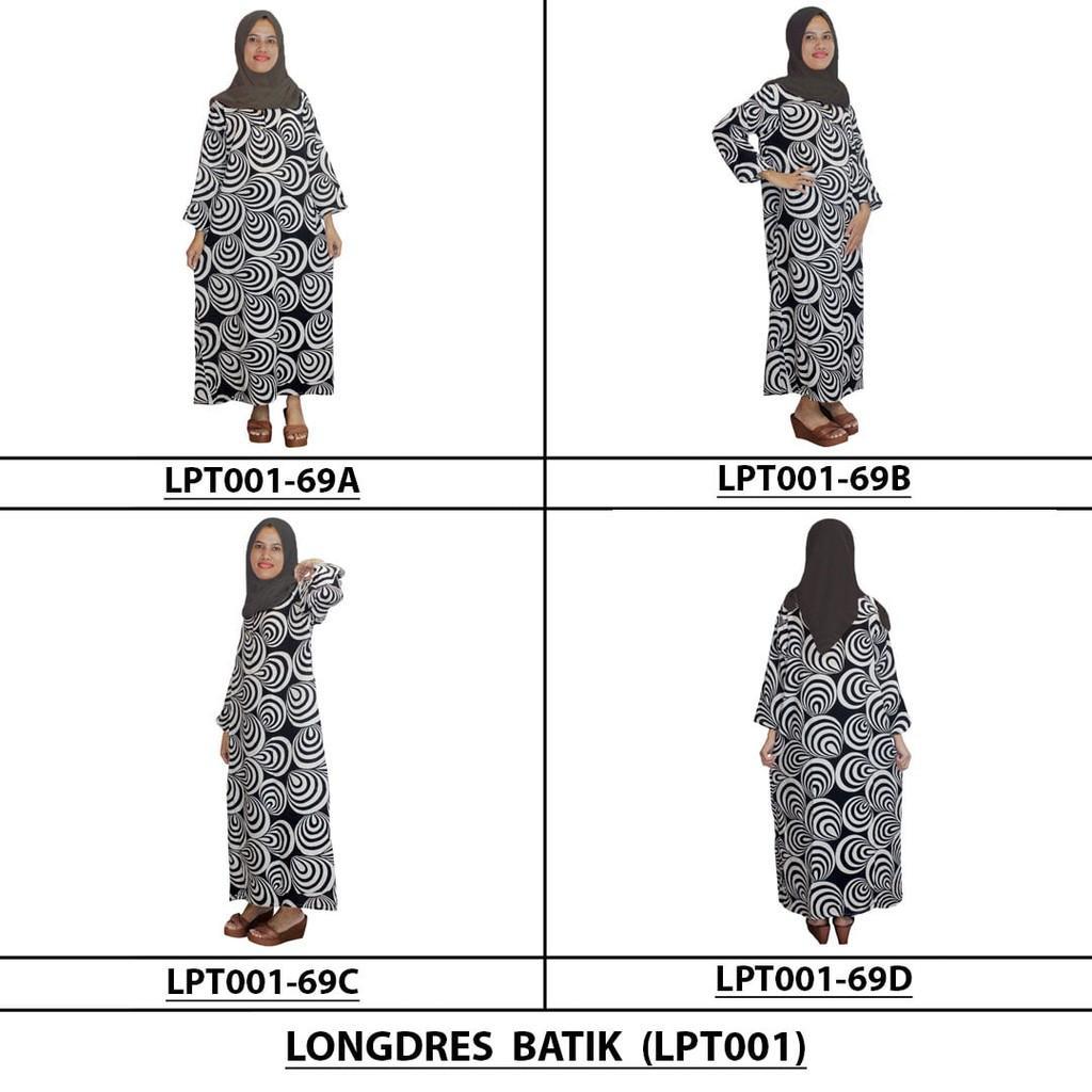 Kelebihan Longdres Batik Daster Lengan Panjang Baju Tidur Kerut Longdress Kancing Lpt001 69