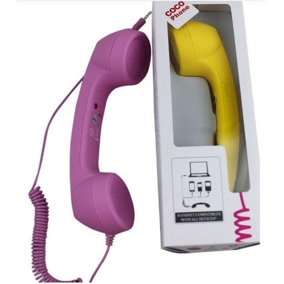 Cocophone Headset anti radiasi hp laptop model gagang telepon