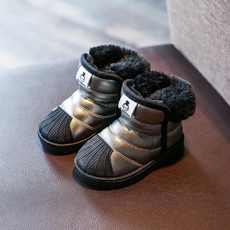 2018 musim dingin sepatu bot salju anak-anak Tahan Air Anti Selip Petpet Boots Salju