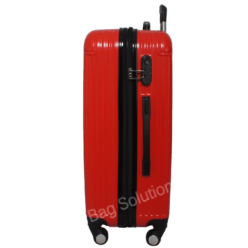 Gambar Produk Rinci Real Polo Tas Koper Hardcase Fiber ABS - 4 Roda Putar - GGEJ Size 28 Inch - Merah Terkini