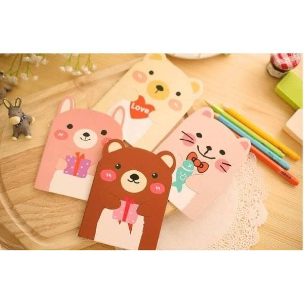 Buku Memo Catatan Kartun Beruang Korea Notes Bear Stationary Sno049