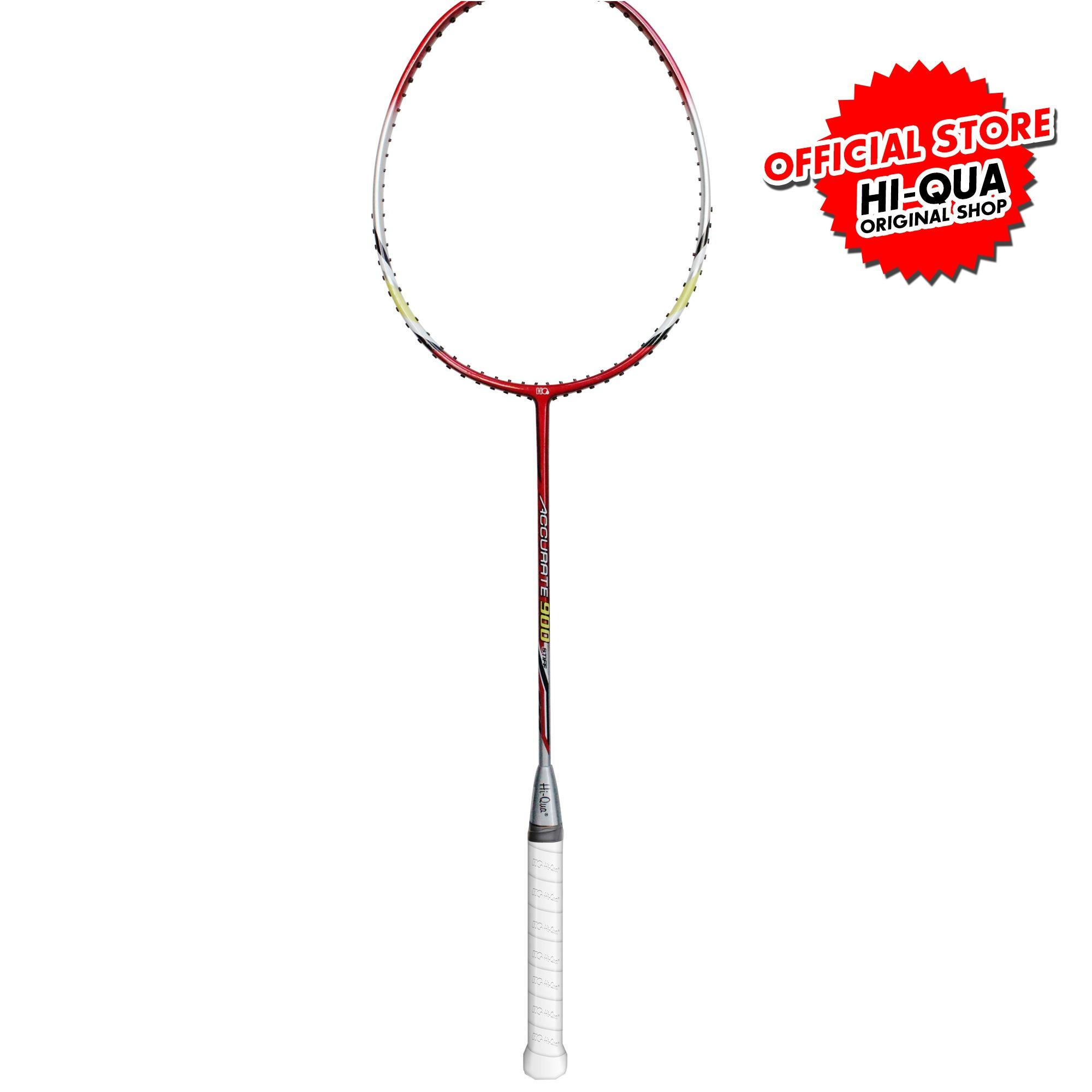 Jual Hi Qua Raket Bulutangkis Badminton Accurate Red Branded Original