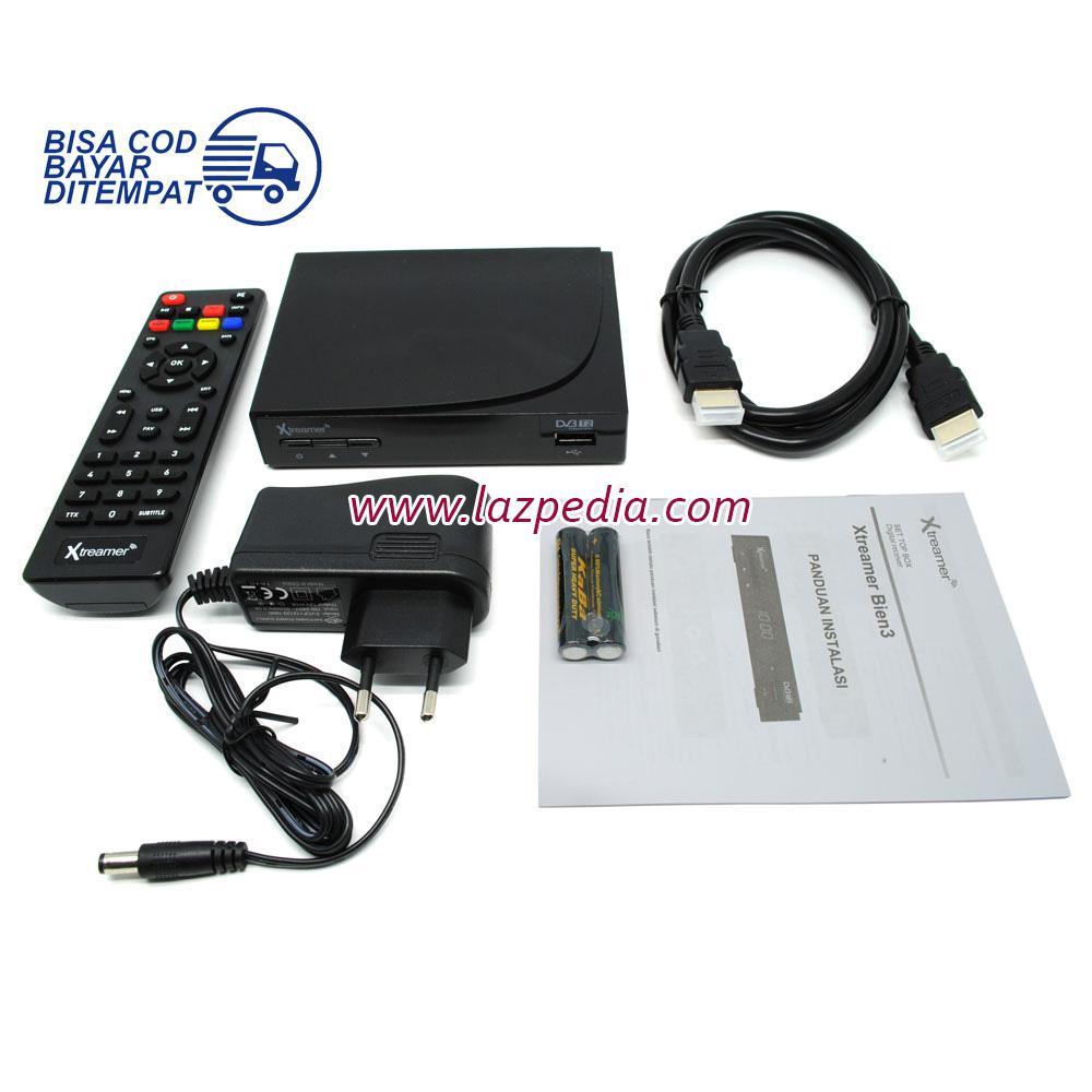 Laz COD - Xtreamer BIEN 3 Set Top Box DVB-T2 and Media Player /  Bebas Bayang Dengan Kualitas Yang Sangat Jernih Dengan Dukungan Resolusi HD / Hitam - Lazpedia