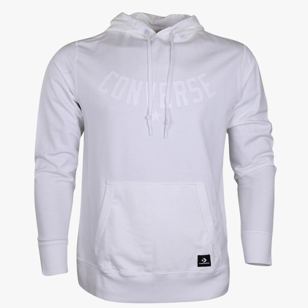 Converse Essentials Palm Print Pull Over Men's Hoodie - White