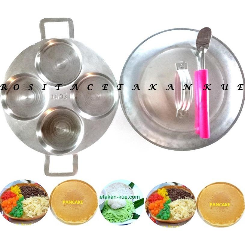 Rosita Cetakan Kue Martabak Mini Pancake Serabi Bolu Lipat 9cm dan Tutup Cetakan Free Sutil Kue