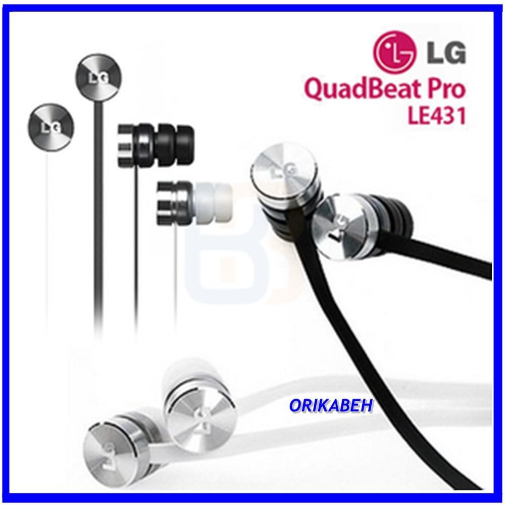 Detail Gambar LG Handsfree Headset For G3 Original Quatbeat Pro LE431 Black Orikabeh Terbaru