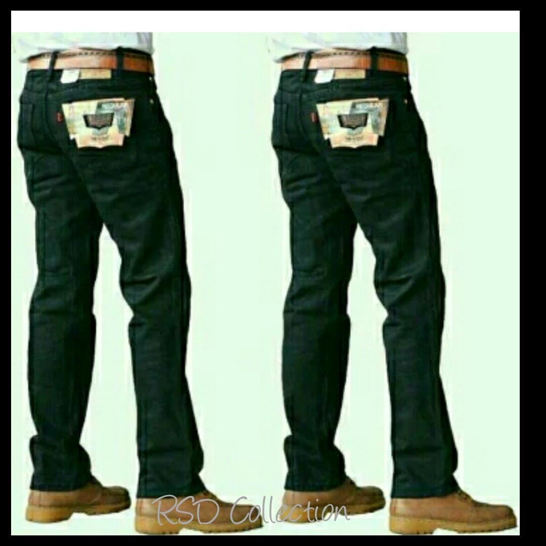 Celana Jeans Standar Hitam - Celana Regular Denim - Celana Jean Besic