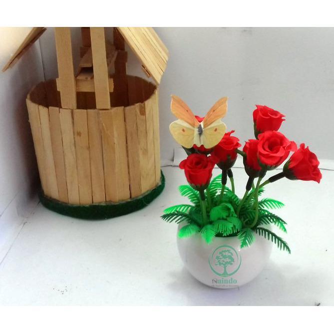 Naindo Bunga Artifisial Hiasan Ruang Tamu Dan Kantor Palsu Hias