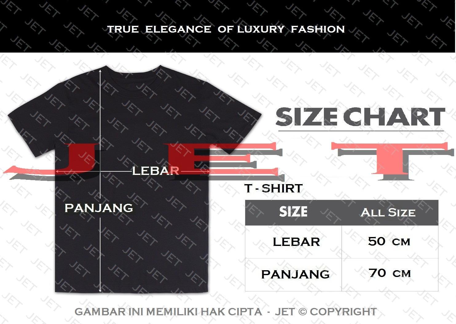 ... JET - VOLKSWAGEN 100% Soft Cotton Combed 30s Kaos Distro Fashion T-Shirt Atasan