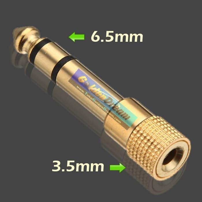Audio Jack 6.5 to 3.5 mm Converter Konverter Connector Adapter Adaptor ...