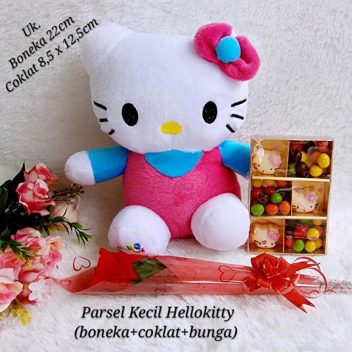 Cek Harga Baru Parsel Valentine kecil (Boneka hello kitty + coklat valentine + bunga) dari Toko Lain dengan Harganya