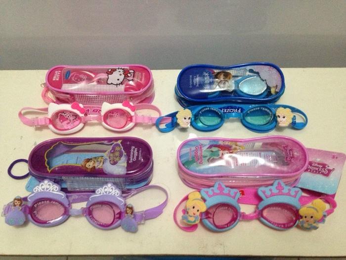 Kacamata Renang Anak Cewek : Frozen,Princess,Hello Kitty,Sofia