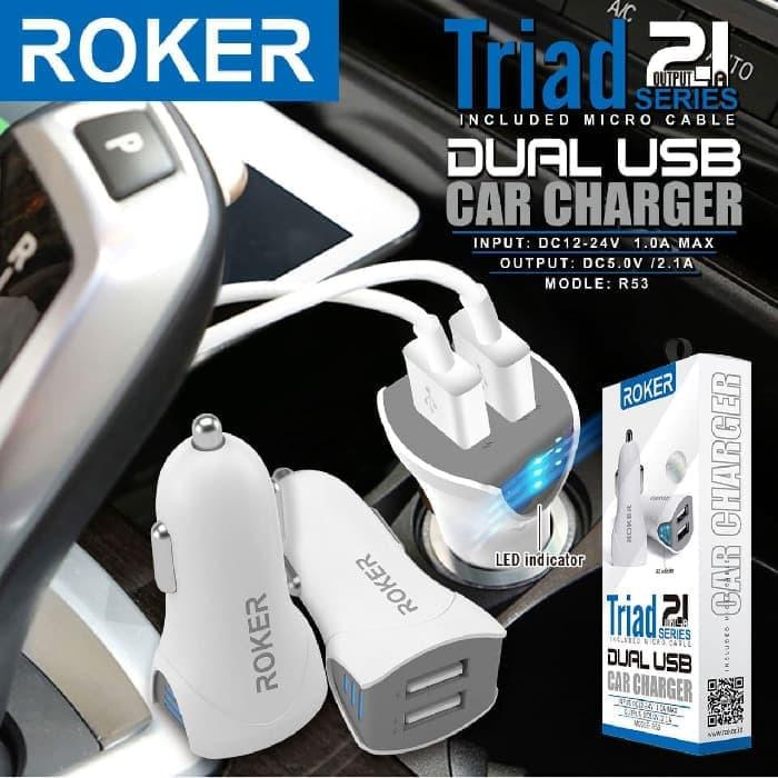 SAVER ROKER Triad 2.1A AUTO ID Dual Usb Charger / Cassan Mobil Roker