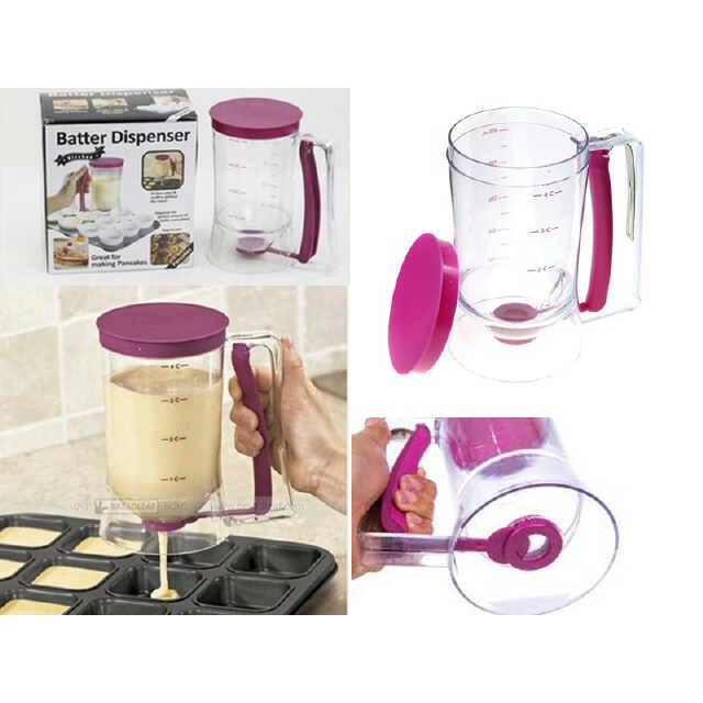 Batter dispenser Gelas Takar Adonan Kue dapur chef cake mold cetakan pastry oven mentega cup cakes