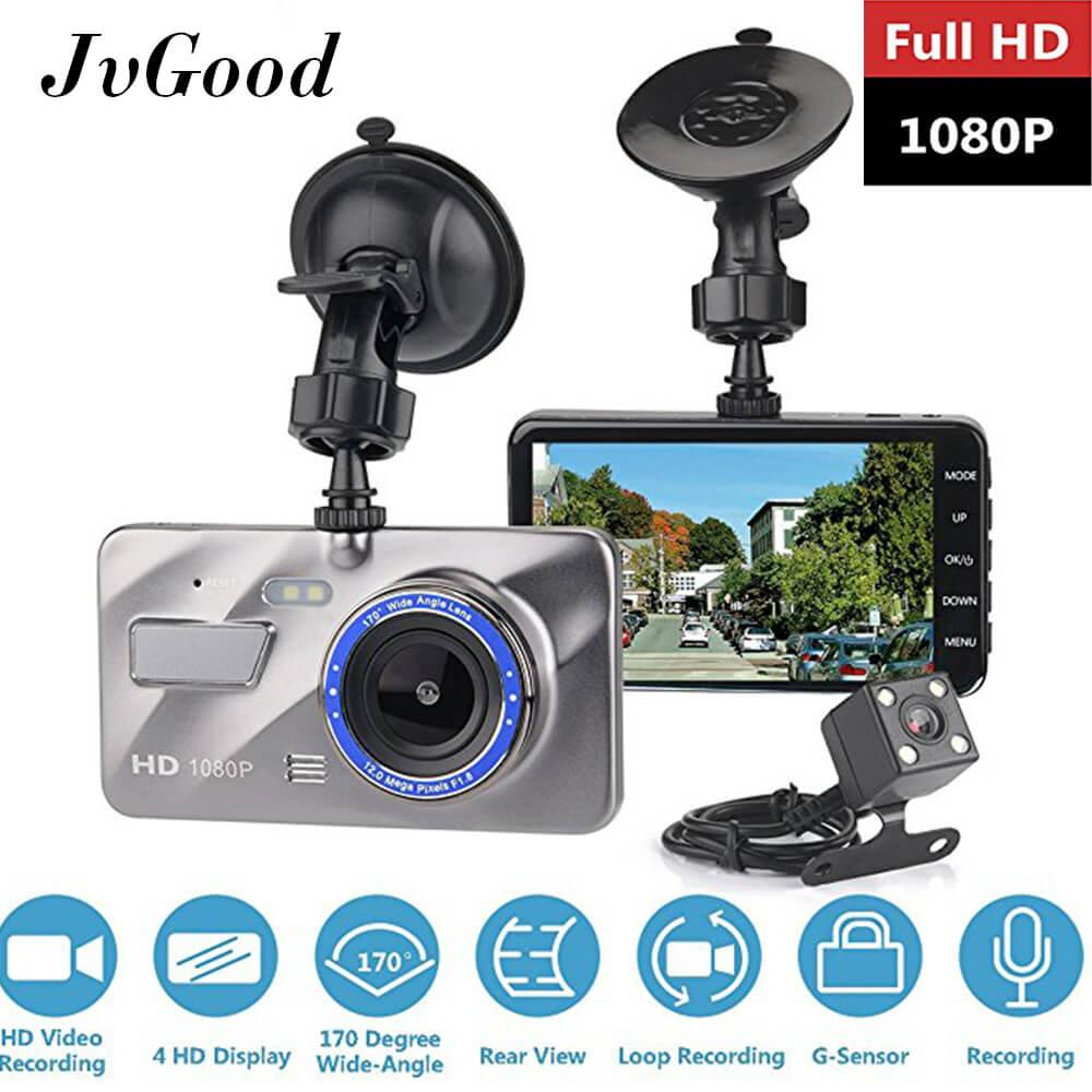 Harga Jvgood Dual Lens Kamera Mobil Car Camera Dash Cam Car Dashboard Camera 4 Screen Fhd 1080P Vehicle On Dash Video Recorder Camcorder Front And Rear Dash Cam Online Tiongkok
