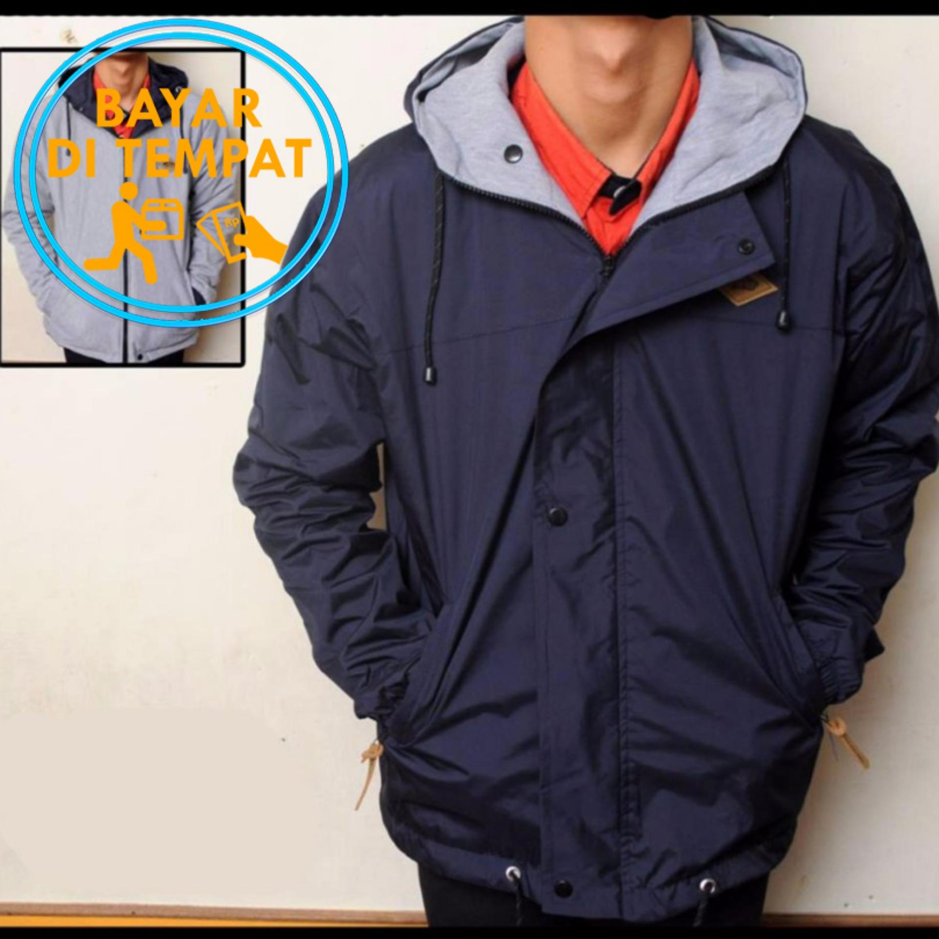 Toko Jaket Murah Parka Bolak Balik Navy Grey 2In1 Best Seller Di Indonesia
