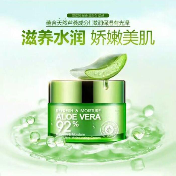 Cream Wajah Bio Aqua Refresh And Moisture Cream Aloe Vera 92 % 1 Buah