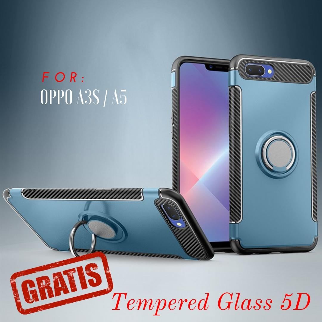 Features Oppo A3s Case With Ring New Versus Carbon Holder Dan Harga