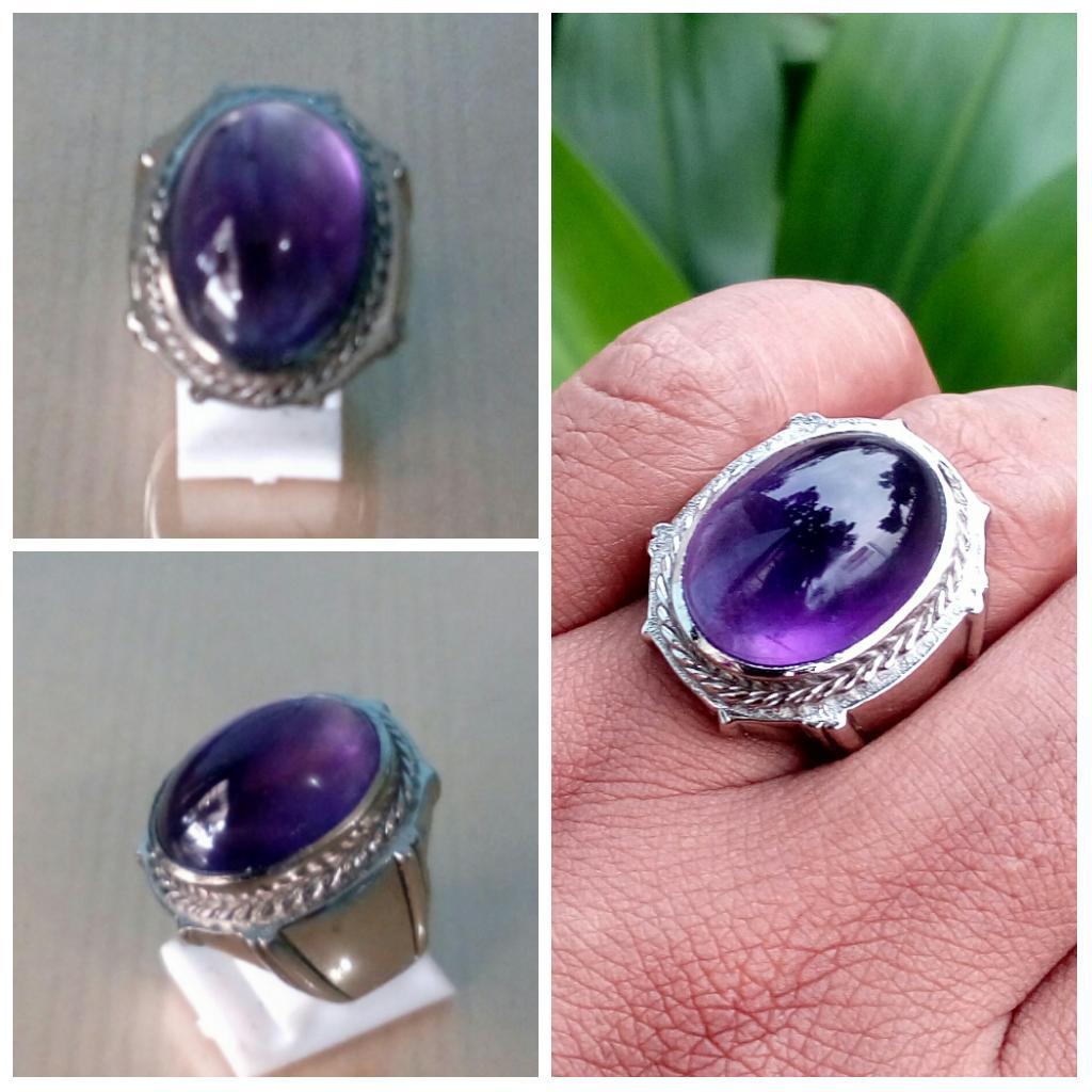 NEW Promo Perhiasan BEST QUALITY CINCIN BATU KECUBUNG AMATHIS KALIMANTAN PANGKALAN BUN Murah