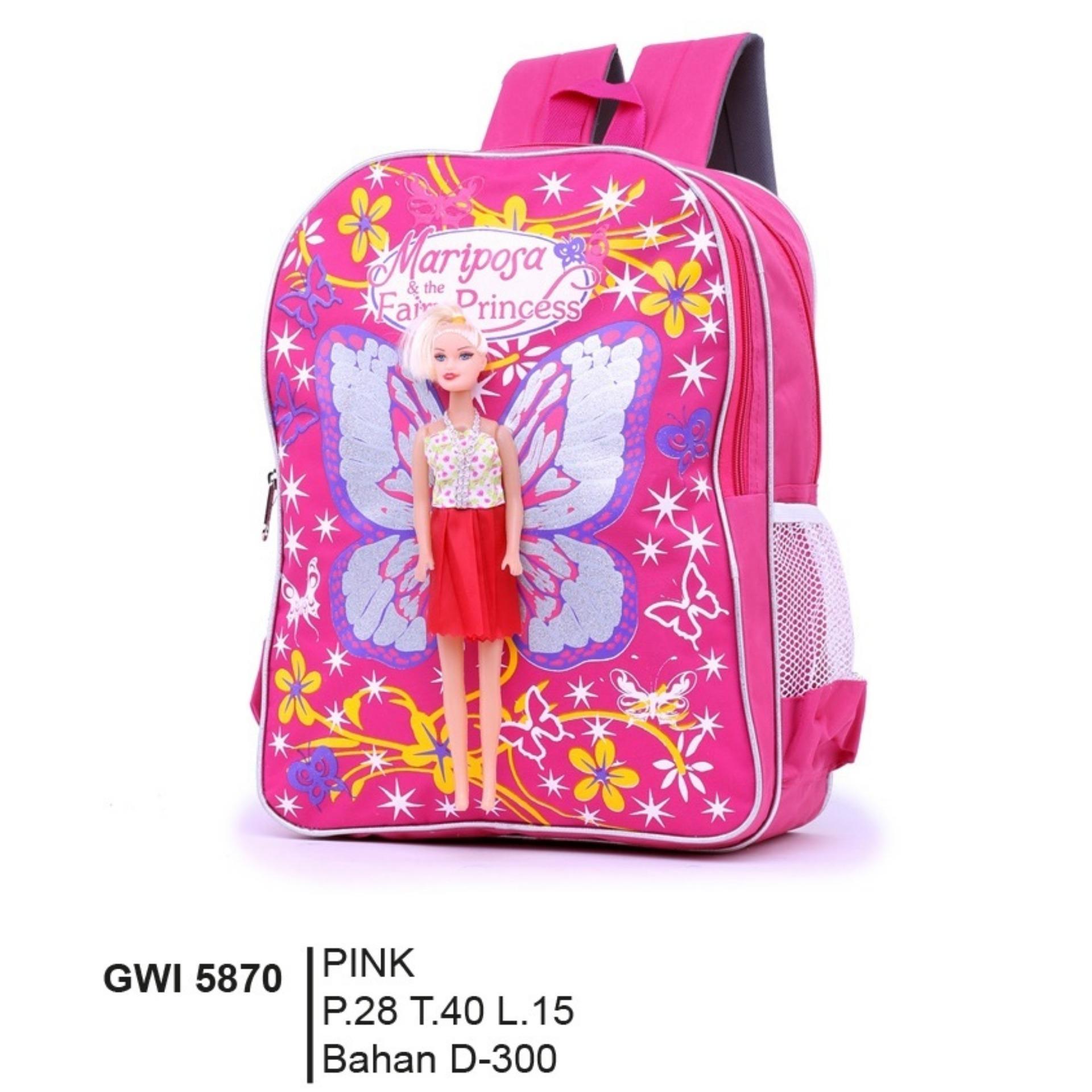 Jual Garsel Fashion Tas Ransel Troly Karakter Anak Perempuan Gwi 009 5870 Pink Bahan Dinier 300
