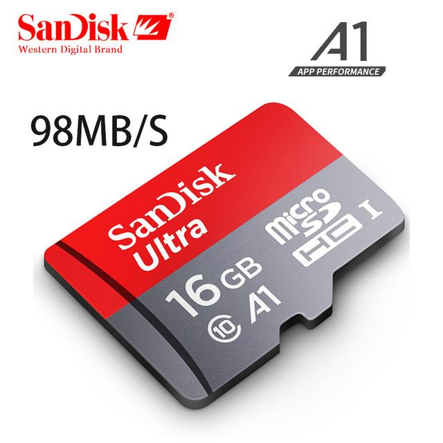 SanDisk Ultra MicroSD 16GB A1 98MB/s UHS-I Card with SD Adapter
