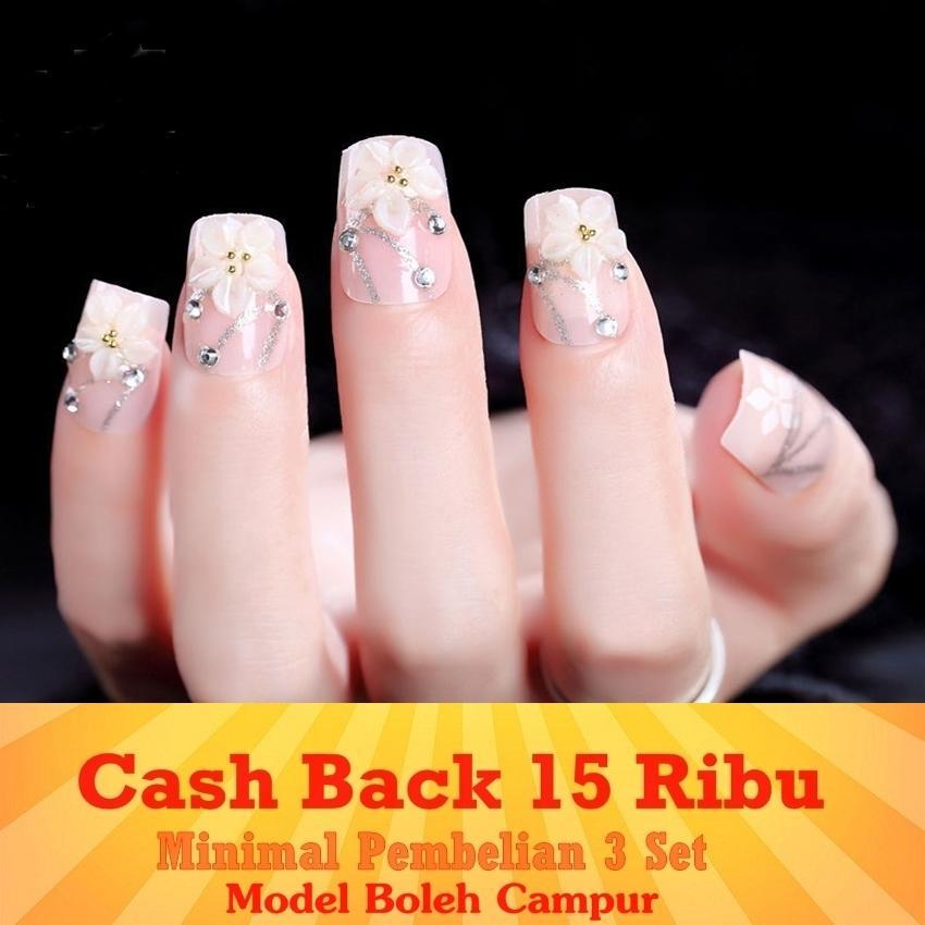 JBS Nails FREE ONGKIR Kuku palsu wedding 3D - A39