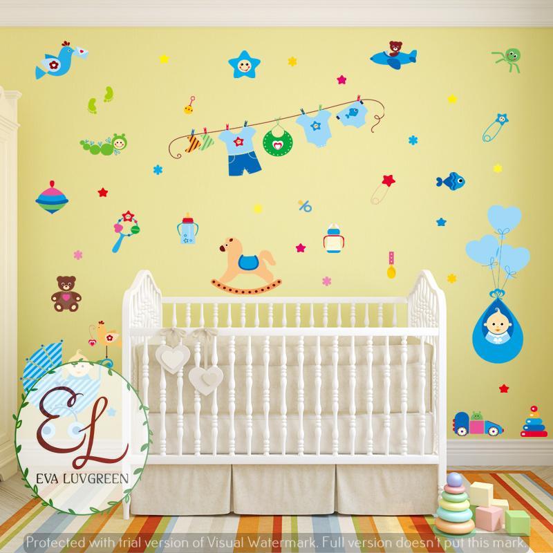 Stiker Dinding Kereta The Stickers Source · Kelebihan Eva Luvgreen Wallsticker Kereta Bayi Biru Ukuran 60x90cm