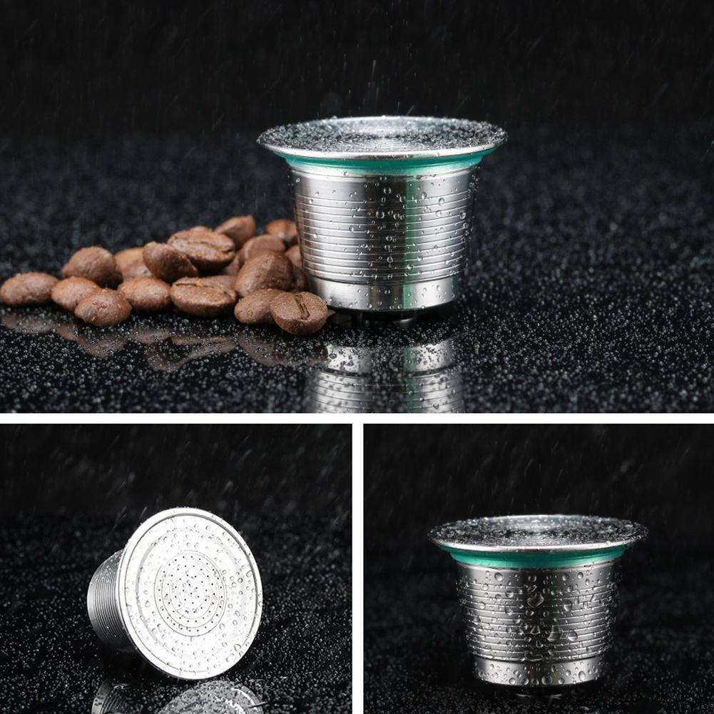 i cafilas Round Hole Reusable Coffee Filter Capsules Cup Dripper Stainless Steel Nespresso .