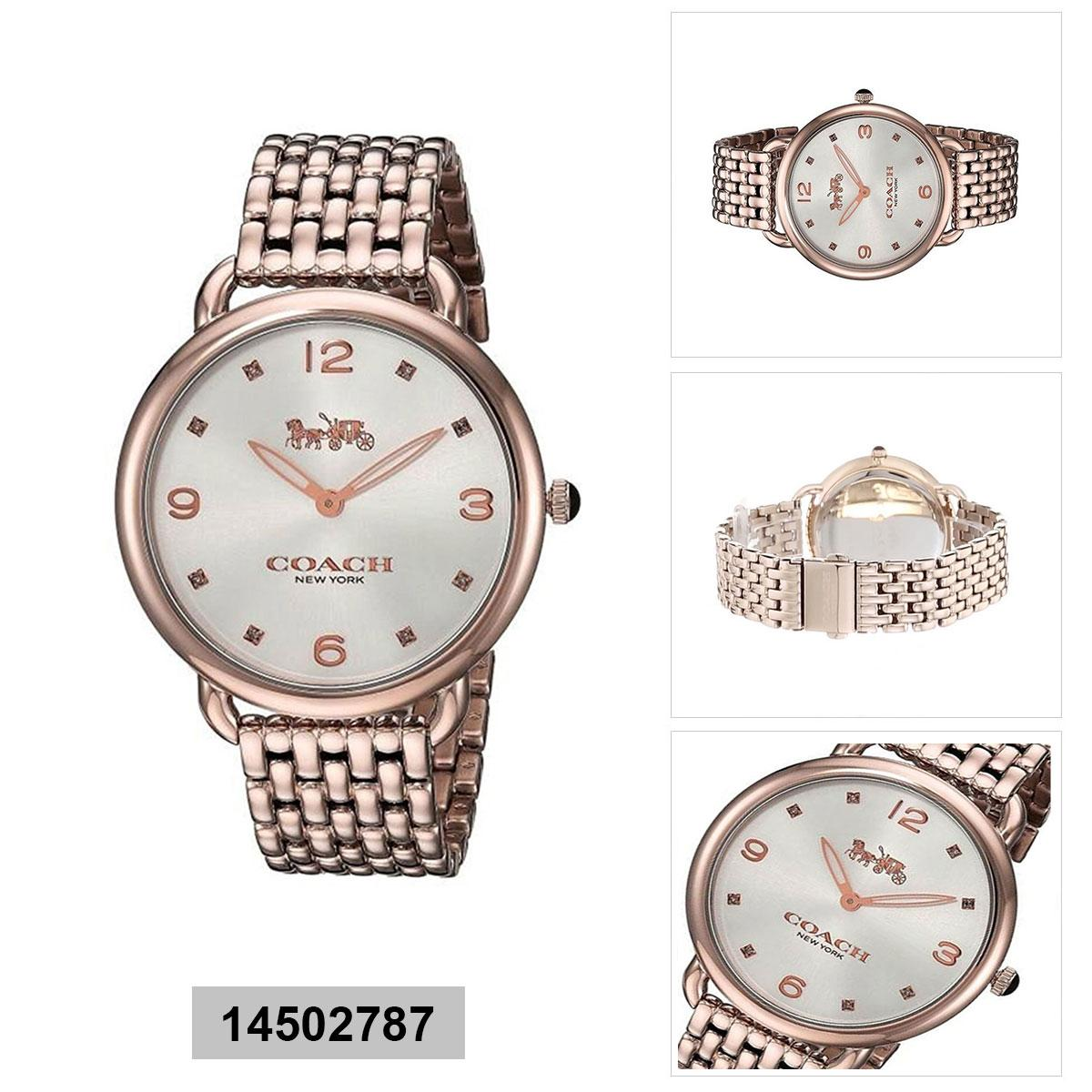 Kelebihan Coach Women Rubber Watch Pink And Purple 14502091 Nwt Jam Authentic Delancey Rose Gold Stainless Steel Case Bracelet Ladies
