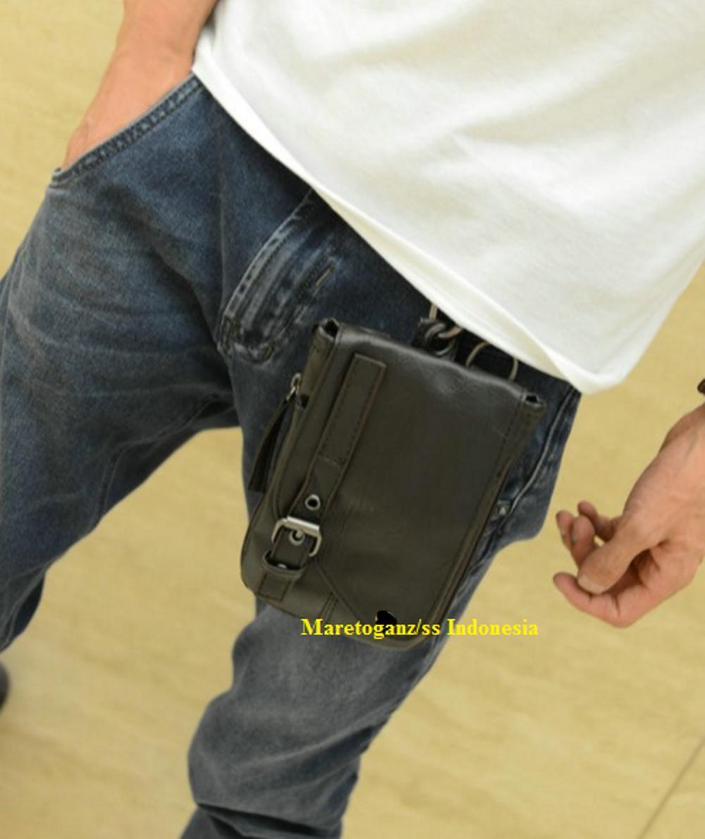 Fitur Tas Pinggang Selempang Kecil Pria Kulit Import Organizer Casual Detail Gambar Coolco Terbaru