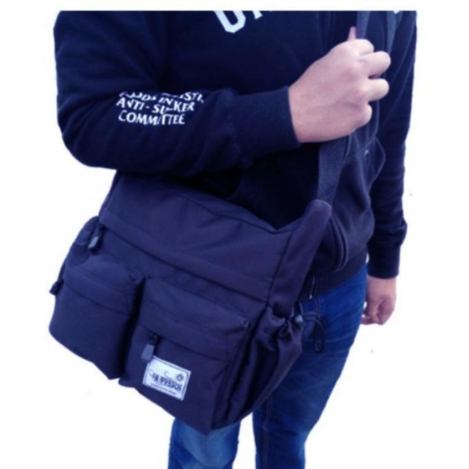 Tas Selempang Pria Buffers Sports - Shoulder Bag Cordura LLC777 - Dark Blue - Tas Sandang Pria Tas Messenger Tas Slempang Crossbody Man Tas Fashion Pria